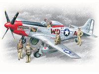 WWII USAAF P51D Mustang Fighter w/Pilots & Ground Personnel (5) 1/48 ICM Models