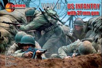 WWII US Infantry (32) w/37mm Guns (4) 1/72 Mars Models