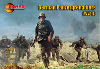 WWII German Panzergrenadiers (40) 1/72 Mars Models