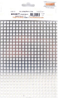 "5.7mm Square Mesh Aluminum Grating Metal Sheet 7.9""x5.5"" Maquett"