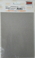 "1.7mm x 3.5mm Diamond Mesh Stainless Steel Grating Metal Sheet 7.9""x5.5"" Maquett"