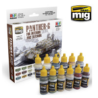 Panther-G Acrylic Colors Set for Interior and Exterior AMMO of Mig Jimenez