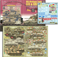 M3 Medium Lee & Grant Tanks of 150th RAC, 1st Australian AD, 1st AD, Scots Greys & 3rd CLY 1/35 Echelon
