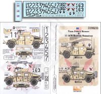 Task Force Bandit & 11 ACR Humvee Markings 1/35 Echelon