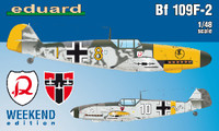 Bf 109F-2 Fighter (Wkd Edition Plastic Kit) 1/48 Eduard