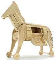 Ancient Trojan Horse Wooden Kit Pathfinders
