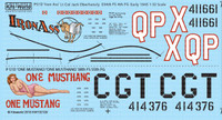 P-51D Iron Ass, One Mustang/One Mustang 1/32 Warbird Decals