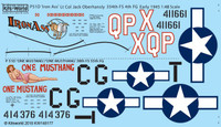 P-51D Iron Ass, One Mustang/One Mustang 1/48 Warbird Decals