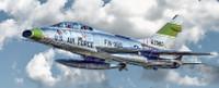 F-100F Super Sabre USAF Fighter 1/72 Italeri