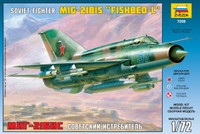 Soviet MiG-21BIS Fishbed-L Fighter 1/72 Zvezda