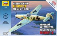 German Messerschmitt Bf 109F-2 Fighter (Snap) 1/72 Zvezda
