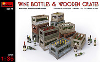 Wine Bottles & Wooden Crates 1/35 Miniart