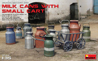 Milk Cans w/Small Cart 1/35 Miniart