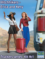 Erica & Kery Hitchhikers w/Suitcase 1/24 Masterbox