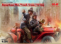 American Fire Truck Crew 1910s (2) 1/24 ICM Models