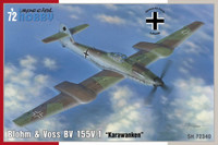 Blohm & Voss Bv 155V1 Karawanken Aircraft 1/72 Special Hobby