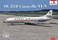 SE210 Caravelle VI-N Corse Air International Commercial Airliner 1/144 A-Model