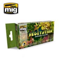Vegetation Diorama Acrylic Colors Paint Set (6 colors) AMMO of Mig Jimenez