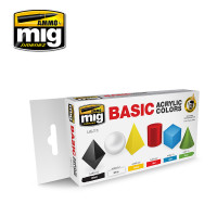 Basic Acrylic Colors Paint Set (6 colors) AMMO of Mig Jimenez