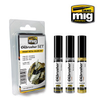 Bright Metal Colors Oilbrushers Set AMMO of Mig Jimenez