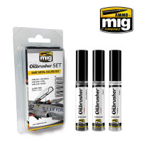 Bare Metal Colors Oilbrushers Set AMMO of Mig Jimenez