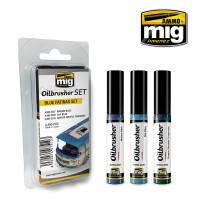 Blue Patinas Oilbrushers Set AMMO of Mig Jimenez