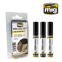 Soil Colors Oilbrushers Set AMMO of Mig Jimenez