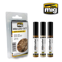 Earth Colors Oilbrushers Set AMMO of Mig Jimenez