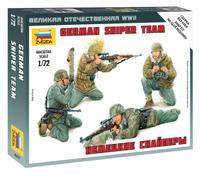German Sniper Team (4) (Snap) 1/72 Zvezda