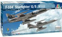 F-104G/S Starfighter Supersonic Interceptor Aircraft Upgraded Edition w/Orpheus Recon Pod 1/32 Italeri