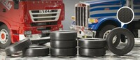 Rubber Truck Tires (8) 1/24 Italeri