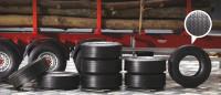 Rubber Trailer Tires (8) 1/24 Italeri
