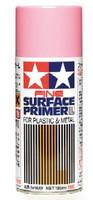 Fine Surface Pink Primer L for Plastic & Metal (180ml Spray) Tamiya Paints