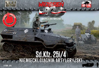 WWII SdKfz 251/4 German Artillery Halftrack 1/72 First To Fight Models