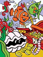 """Underwater Treasures Paint by Number Age 4+ (8.75""""x11.75"""") Royal & Langnickel"""