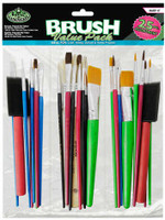 Assorted Taklon Brushes 12pc Value Pack Royal & Langnickel