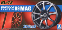"BRW Profile 09 MAG 20"" Tire & Wheel Set (4) 1/24 Aoshima"