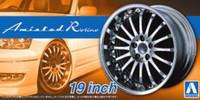 """Amistad Rotino 19"""" Tire & Wheel Set (4) 1/24 Aoshima"""