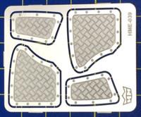 VW Beetle Interior Aluminum Rear Panels for TAM (2 sizes) 1/24-1/25 Highlight Model Studio