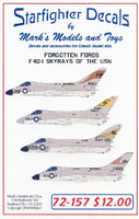 Forgotten Fords F4D-1 Skyrays of the USN for TAM 1/72 Starfighter Decals