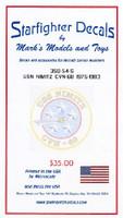 USS Nimitz CVN68 1975-83 Deck Markings for TSM 1/350 Starfighter Decals