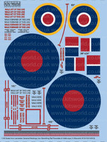 Avro Lancaster General Markings, Stenciling RAF Roundels & Walkways 1/48 Warbird Decals