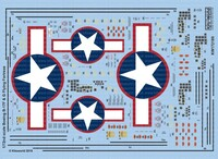 B-17F/G Red Outlined Stars & Bars, Stenciling, National Insignia, Cockpit Instrumentation & Walkways, etc 1/72 Warbird Decals