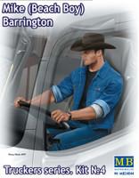 Mike Barrington Trucker Sitting wearing Cowboy Hat & Denim Jacket 1/24 Masterbox