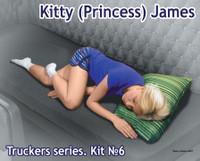 Kitty James Trucker Passenger Sleeping (for Trucks w/Sleeper Beds) 1/24 Masterbox