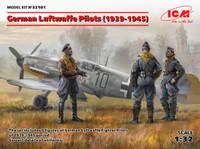 WWII German Luftwaffe Pilots 1939-1945 (3) 1/32 ICM Models
