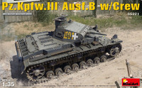 PzKpfw III Ausf B Tank w/5 Crew 1/35 Miniart