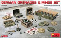 German Grenades & Mines Set 1/35 Miniart