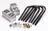 "Belltech 2"" Lowering Block Kits are an economic way to lower the rear of your Truck. All Belltech lowering blocks are built of die-cast aluminum and are sold as complete kits including cold rolled 1/2'' diameter U-blots with precision rolled threads, SAE plated washers and self locking nuts.  *** Your results may vary."