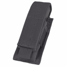 Condor MA32 Single Pistol Mag Pouch MOLLE Magazine Sheath Holster- OD Green/ Black/ Tan
